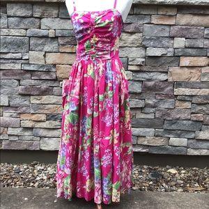 Laura Ashley vintage garden party sundress size 12
